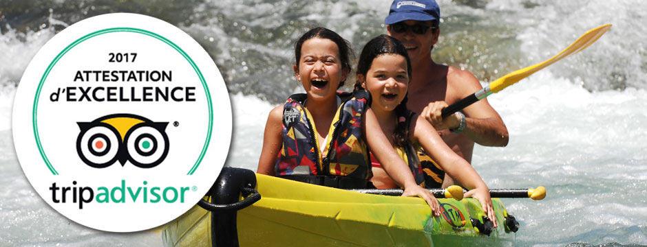 certificat excellence 2017 canoe