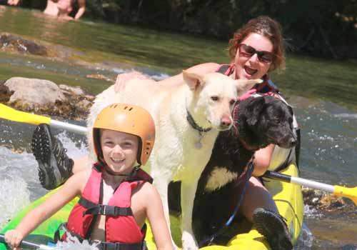 canoe avec chien herault